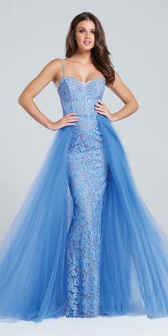 Periwinkle Prom Dress Ellie Wilde EW117065. Colors: Periwinkle. Size: 0-12