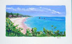 Warwick Long Bay, Bermuda, acrylic, June 2015 - SOLD