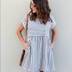 Take a look at the best casual dress for fall in the photos below and get ideas for your outfits! 15 cute Thanksgiving outfits with dresses Image source Look Fashion, Teen Fashion, Fashion Clothes, Dress Fashion, Fall Fashion, Gym Clothing, Online Clothes, Maternity Clothing, Summer Clothing