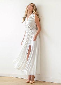 #weddingdresses #whitedresses #whitesideslitdresses #white #sideslitdresses #wrapdresses