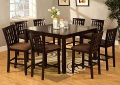 Eleanor Square Extension Leaf Counter Height Table w/4 Counter Height Chairs, /category/dining-room/eleanor-square-extension-leaf-counter-height-table-w-4-counter-height-chairs.html