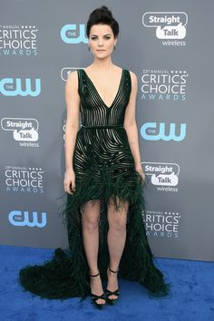 All the Gorgeous 2018 Critics' Choice Awards Red Carpet Arrivals - Jaimie Alexander from InStyle.com