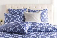 Kabuki Leaf Cobalt Blue Duvet Bedding Set