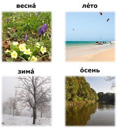 ročné obdobia po rusky - ruština pre samoukov