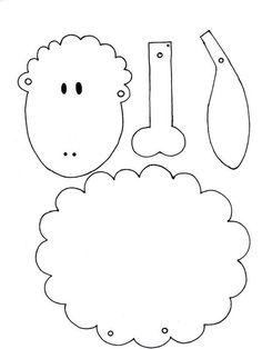 A jumping jack sheep template ostern-basteln-schaf-schablone-h. Kids Crafts, Sheep Crafts, Bible Crafts, Easter Crafts, Felt Crafts, Arts And Crafts, Applique Patterns, Craft Patterns, Felt Patterns
