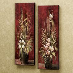 Bamboo Flowers Canvas Art.....I have these and just love them!