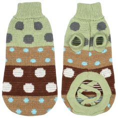 Turtleneck Polka Dot Knit Pet Dog Sweater Clothes Coat Apparel Pale Green XS * Click image for more details. (This is an affiliate link) #DogsSweaters