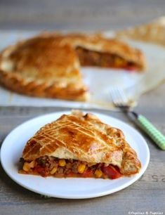 pepper and cumin Recette Tourte mexicaine+ Quiches, Mexican Pie, Mexican Kitchens, Savory Tart, Mexican Food Recipes, Ethnic Recipes, Cooking Recipes, Healthy Recipes, Antipasto