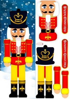 Nutcracker Christmas Step By Step Large DL Card on Craftsuprint - Add To Basket!