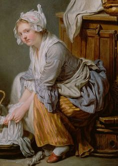 thcentury life french genre painting in the eighteenth century  1761 detail of the laundress by jean baptiste greuze women