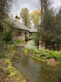 Cottage by a brook