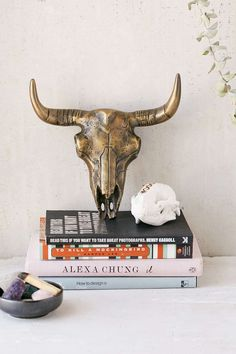 Magical Thinking Bison Skull Wall Sculpture