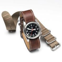 Field Watch, A2SAE01 Brown Stainless Steel Watch, blockout