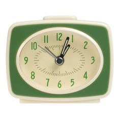Vintage Tv Style Green Alarm Clock | DotComGiftShop