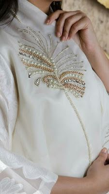 Learn the couture embellishment technique of tambour beading with world-renown experts, Hand and Lock, the company who Louis Vuitton and Pearl Embroidery, Bead Embroidery Patterns, Tambour Embroidery, Couture Embroidery, Embroidery Fashion, Embroidery Jewelry, Hand Embroidery Designs, Embroidery Dress, Embroidery Stitches