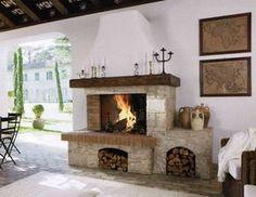 Camino In Pietra Rustico : Risultati immagini per camini in pietra e mattoni kandalló
