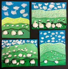 Foreground middle ground and background. grade maybe - Today Pin perspective / fore- mid- back- ground ! perspective / fore- mid- back- ground ! Great art project to teach kids perspective / fore- mid- back- ground! Uncle Noel's birthday card Image gall Kindergarten Art Projects, School Art Projects, Art 2nd Grade, 2nd Grade Crafts, Hand Kunst, Classe D'art, Spring Art Projects, Ecole Art, Art Lessons Elementary