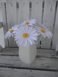 Bouquet of 6 Paper Daisies