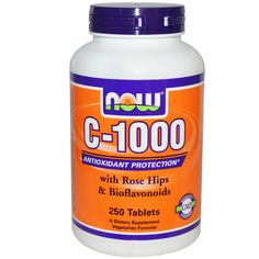 Now Foods, C-1000, with Rose Hips & Bioflavonoids, 250 Tablets - iHerb.com