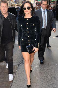 Demi Lovato leaves Good Morning America  in New York City on Oct. 29, 2015.