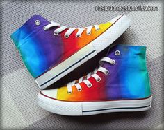 Hey, I found this really awesome Etsy listing at https://www.etsy.com/listing/179684380/rainbow-custom-converse-colorful-painted