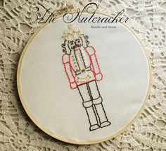 The Nutcracker Hand Embroidery Embroidery by amelieandhenri