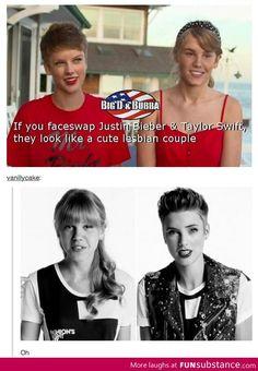 Bieber & Taylor Face Swap