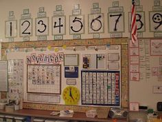 awesome daily board - ordinals on numbers, large tracing dots on numbers, calendar, time, board homeschool Classroom Setup, Classroom Design, School Classroom, Classroom Organization, Classroom Environment, Classroom Displays, Future Classroom, Touch Point Math, Touch Math