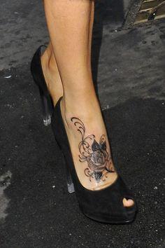 Jenny McCarthy Flower Tattoo