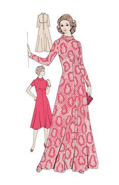 Max dress pattern of 1970s