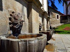 Three Founts water fountain in Viseu, central Portugal