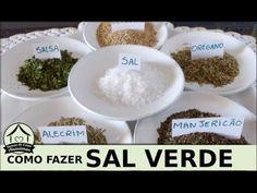 Como fazer sal verde - sal de ervas