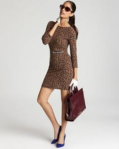 C By Bloomingdale's Cheeta Print 100% Cashmere Dress Sz Medium in Clothing, Shoes & Accessories, Women's Clothing, Dresses | eBay