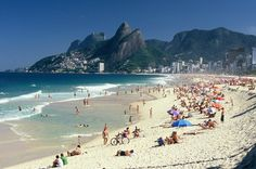 Wow, look at this beach, great place to visit in Rio de Janeiro!