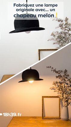 John Steed vous a légué son chapeau, mais votre style c'est plutôt celui d'Emma Peel ? Vous ne savez donc pas quoi en faire de ce couvre-chef... On a une idée pour vous ! Pourquoi ne pas le transformer en suspension originale ? Marie, du blog Une hirondelle dans les tiroirs, a réalisé pour 18h39 ce pas à pas pour vous guider dans sa réalisation, pour céder à la tendance d'introduire les chapeaux dans sa décoration. À vos outils !