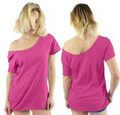 1980 s SLASH Neck  off the shoulder t shirt fancy dress ladies  Sizes xs to 5x