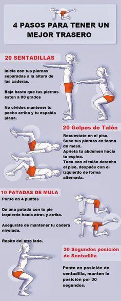 Moldea tu cuerpo y consigue unos #glúteos tonificados con estos #ejercicios. #EjerciciosParaGlúteos #Ejercicio #EjerciciosEnCasa #BajarDePeso #TonificarCuerpo #Salud
