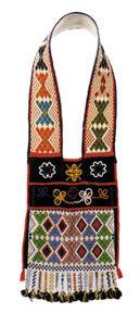 Beaded bandolier bag, worn during ceremonial gatherings, c. 1850.