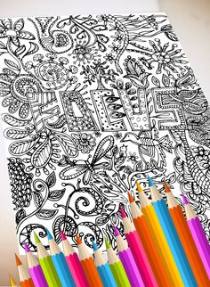 Spectacular Print Your Own Coloring Book 88 FOCUS digital file