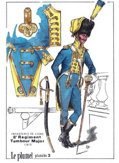 Tamburo maggiore dell'8rgt. fanteria di linea francese
