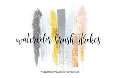 Brush Strokes Clipart - winter by Blush Marble Studio on @creativemarket