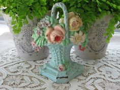Vintage 1930's Shabby Aqua French Wicker by TheButlersCottage, $195.00