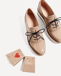 PLATFORM BLUCHERS-Flats-SHOES-WOMAN | ZARA United States