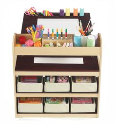Guidecraft Deluxe Art Center: Drawing and Painting Table for Kids, W/ Two Stools, Craft Supplies Storage Shelves, Canvas Bins, Paper Roll – Preschool Toddler Wooden Learning Furniture Kids Art Table, Kids Table Chair Set, Kid Table, Art Tables, Table Desk, Art Activities For Kids, Art For Kids, Kids Art Corner, 3 Piece Art