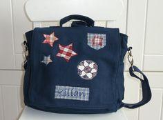 """Kindergartentaschen - Kindergartenrucksack """"Fußball"""" blau - ein Designerstück…"""