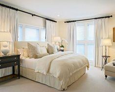 Trendy bedroom design ideas for couples curtain rods Trendy Bedroom, Modern Bedroom, Home Decor Bedroom, Bedroom Furniture, Bedroom Ideas, Bedroom Designs, Window Behind Bed, Romantic Master Bedroom, Master Bedrooms