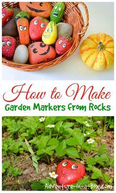 Cute Fruit and Veggie Garden Markers