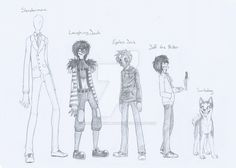 Slender man, Laughing Jack, Eyeless jack ,Jeff the killer and smiley creepypasta profiles of the main five by silverfannumbero.