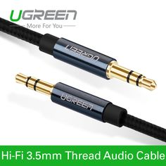 3.60$ (Buy here: http://alipromo.com/redirect/product/olggsvsyvirrjo72hvdqvl2ak2td7iz7/32655506530/en ) Ugreen New Aux Cable 3.5mm to 3.5 mm Jack Audio Cable Thread Bradied Male to Male  Stereo Auxiliary Cord for Phone Car Speaker for just 3.60$