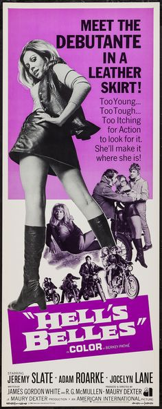 Movie Posters:Exploitation, Hell's Belles (American International, 1969).